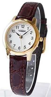 Aureole [オレオール 3針クォーツ本わに革バンド レディース腕時計 バンドカラー:ブラウン SW-467L-2