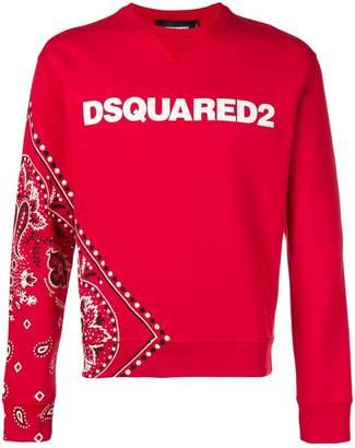 DSQUARED2 bandanna print logo sweatshirt