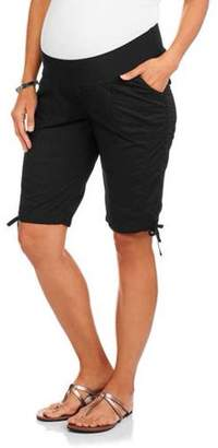 8ca8579212d Oh! Mamma Maternity Underbelly Stretch Poplin Bermuda Shorts - Available in Plus  Sizes