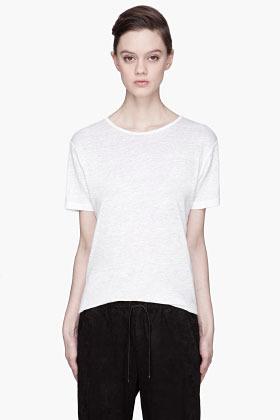 Alexander Wang Heather white Linen-Silk t-shirt