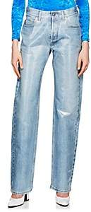 Balenciaga Women's Laminated Jeans - Lt. Blue