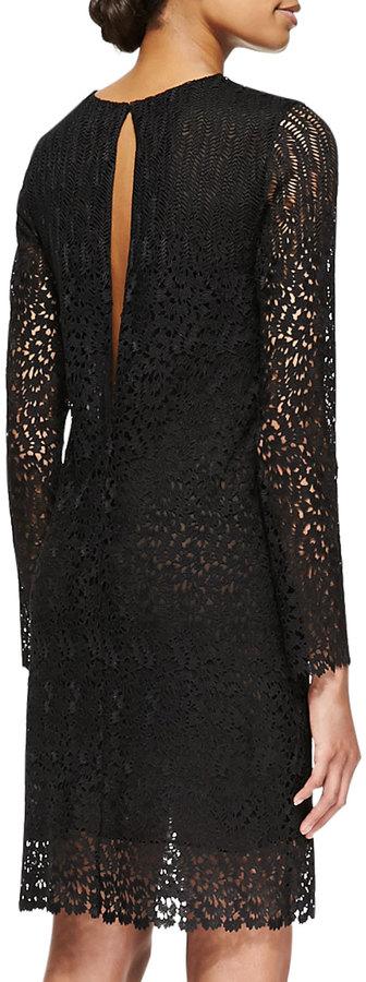 ADAM by Adam Lippes Long-Sleeve Lace Keyhole Dress