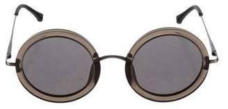 Linda Farrow Round Tinted Sunglasses