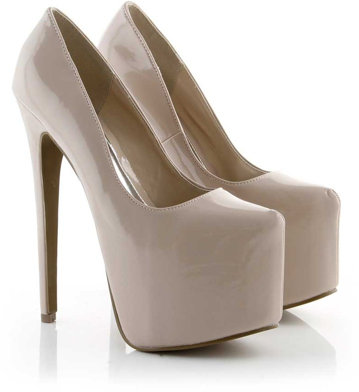 Fashion Union Nude Extreme Platform High Heel Shoe