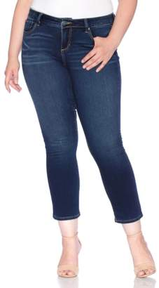 SLINK Jeans High Waist Stretch Ankle Straight Leg Jeans