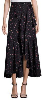 Rebecca Taylor Mia Floral Wrap Skirt $395 thestylecure.com