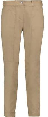 Halston Paneled Poplin Slim-leg Pants