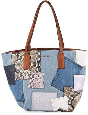 Marc JacobsMarc Jacobs Wingman Denim Patchwork Tote Bag, Multi
