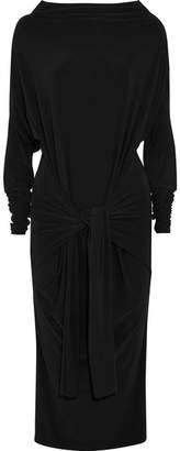 Norma Kamali Convertible Stretch-jersey Dress - Black