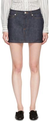A.P.C. Indigo Denim Miniskirt $115 thestylecure.com