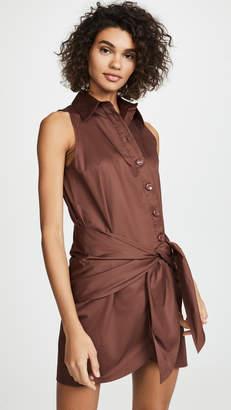 Tibi Shirt Dress with Tie Detail
