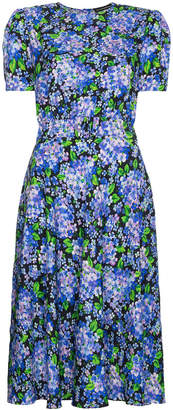 Vika Gazinskaya Shortsleeved midi floral dress