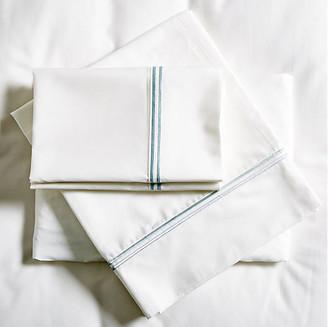 Pom Pom at Home Sateen Sheet Set - White/Ocean