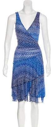 Diane von Furstenberg Silk Jersey Midi Dressd