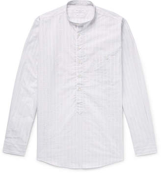 Richard James Grandad-Collar Striped Cotton-Voile Shirt