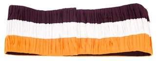 Vionnet Ruched Stripe Waist Belt