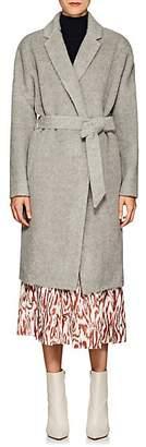 Martin Grant Women's Alpaca-Wool Belted Cardigan Coat - Light Gray