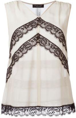 Twin-Set lace detail top $147 thestylecure.com