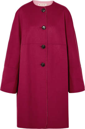 Marni Reversible Wool And Cashmere-blend Coat - Pink