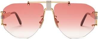 Celine Square aviator-frame glasses