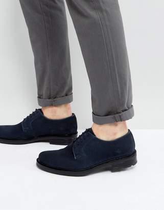 Dead Vintage Derby Shoes In Navy Suede