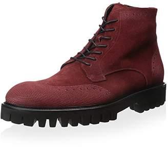 Dino Bigioni Men's Wingtip Suede Lace Up Boot