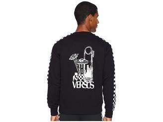 Versace UFO Check Long Sleeve T-Shirt
