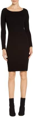 St. John Plaited Rib Knit Dress