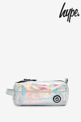 Hype Girls Iridecent Pencil Case - Silver