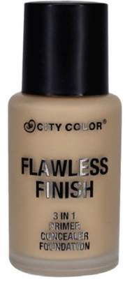 Color City (6 Pack) CITY COLOR Flawless Finish 3 In 1 Primer, Concealer Foundation - Buff