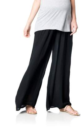 A Pea in the Pod Pull On Style Gauze Wide Leg Maternity Pants