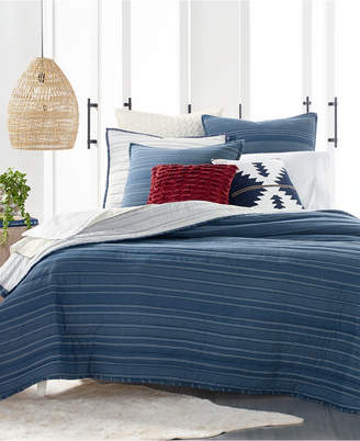 Lucky Brand Running Stitch Quilted Reversible King Quilt