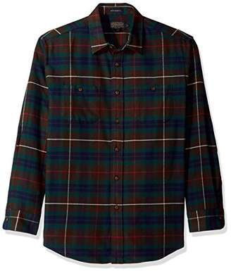 Pendleton Men's Long Sleeve Button Front Hawthorne Flannel Shirt