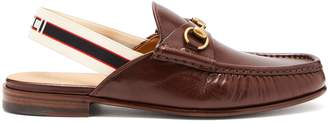 Gucci Roos horsebit slingback-strap leather loafers