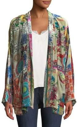 Johnny Was GG Velvet Kimono Jacket, Plus Size