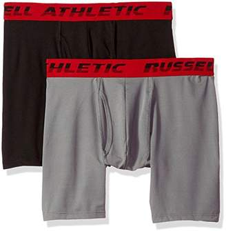 Russell Athletic Men's Performance Mesh Boxer Brief Underwear (2 Pack)