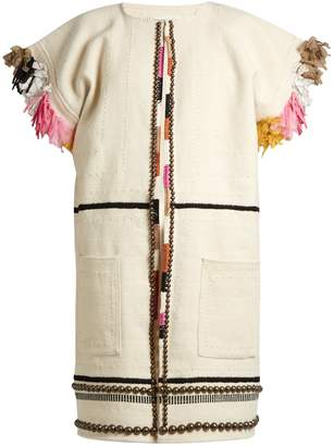 Apiece Apart Nazca embellished cotton and wool-blend coat