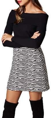 Karen Millen Snap Detail Off-the-Shoulder Sweater