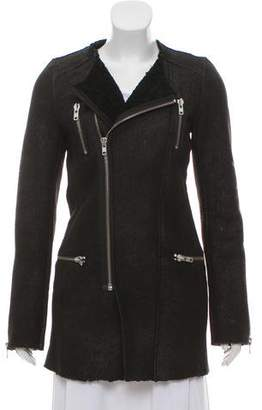 IRO Zip-Up Shearling Jacket