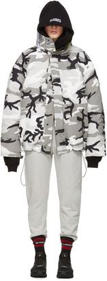 Vetements Reversible Grey Camouflage Canada Goose Edition Parka $3,640 thestylecure.com