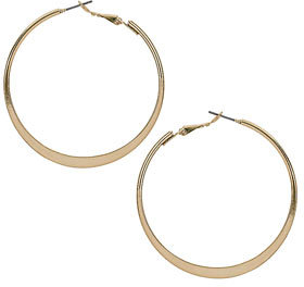 Dorothy Perkins Flat sided gold look hoops