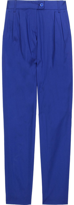 Moschino Cheap and Chic Tapered cotton-blend pants