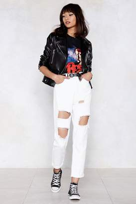 Nasty Gal Seeing Shred Distressed Jeans