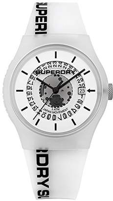 Superdry Men's Quartz Plastic and Silicone Casual Watch, Color (Model: SYG168W)
