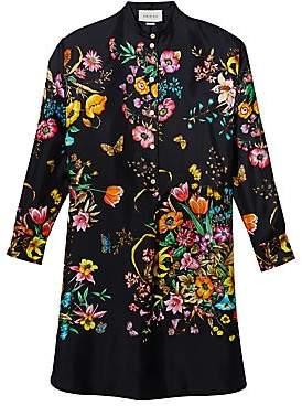 Gucci Women's Silk Floral Tunic Dress