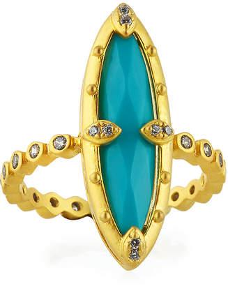 Freida Rothman Amazonian Allure Turquoise Cocktail Ring, Size 6