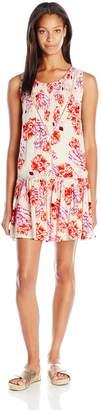 MinkPink Women's Holiday Fling Lined Drop-Waist Cover up Dress