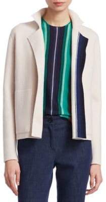 Akris Cashmere Stripe-Knit Cardigan