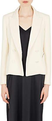 BLAZÉ MILANO Women's Essentials Wool Double-Breasted Blazer - Cream