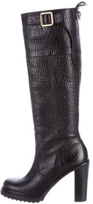Tory BurchTory Burch Embossed Knee-High Boots